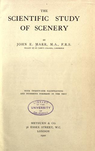 The scientific study of scenery