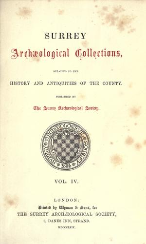 Surrey archaeological collections.