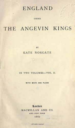 Download England under the Angevin kings.