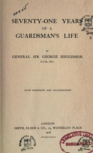 Download Seventy-one years of a guardsman's life