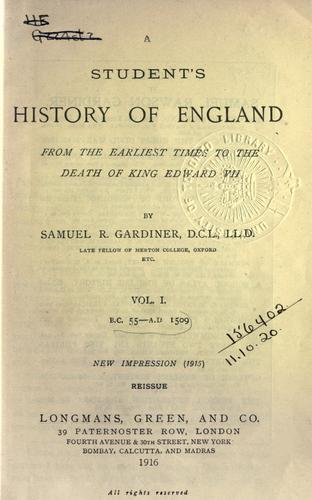 A student's history of England.