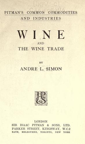 Download Wine and the wine trade
