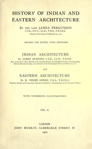 Download History of Indian and Eastern architecture