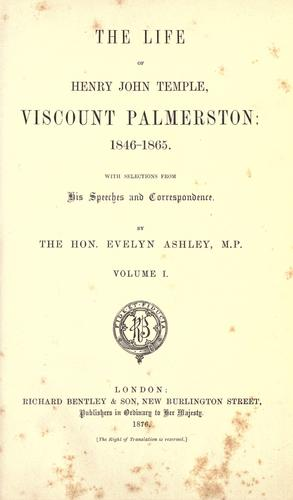 Download The life of Henry John Temple, viscount Palmerston: 1846-1865.