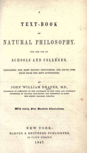 A text-book on natural philosophy