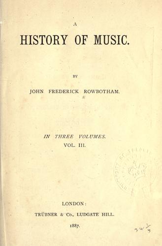 Download A history of music.