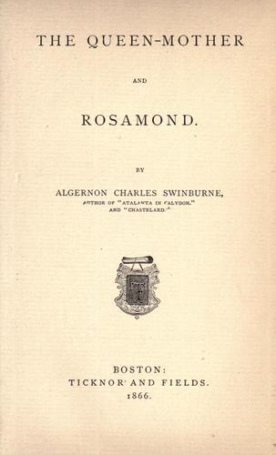 Download The Queen-mother, and Rosamond.