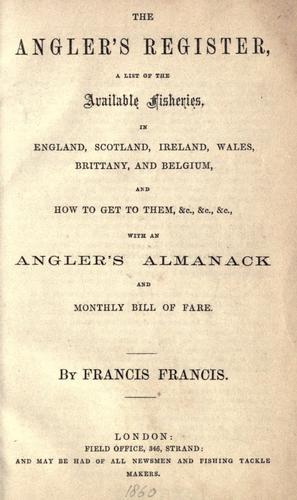 The angler's register
