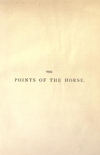 The points of the horse by M. Horace Hayes