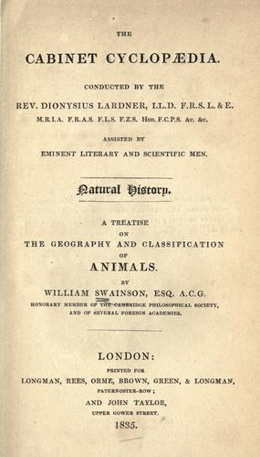 Download A treatise on the geography and classification of animals.