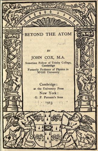 Download Beyond the atom