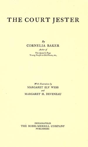 The court jester by Cornelia Baker