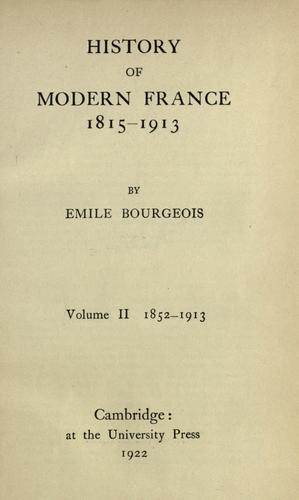 History of modern France, 1815-1913