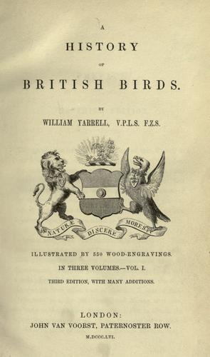 Download A history of British birds