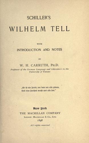 Download Schiller's Wilhelm Tell