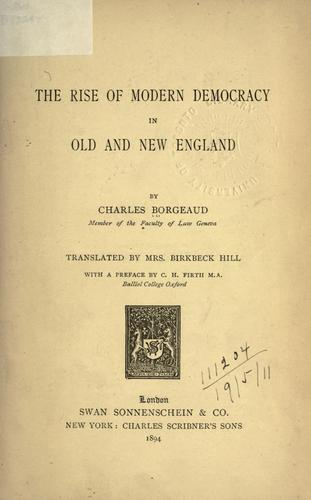 Download The rise of modern democracy in old and New England