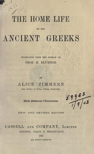 Download The home life of the ancient Greeks.