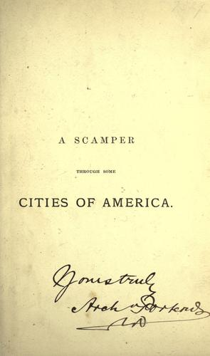 A scamper through some cities of America