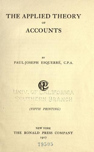 Download The applied theory of accounts
