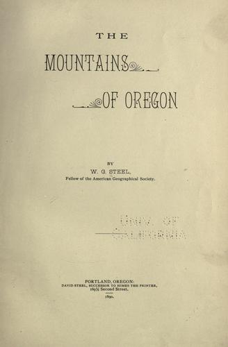 Download The mountains of Oregon