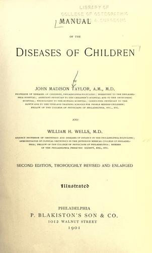 Manual of the diseases of children