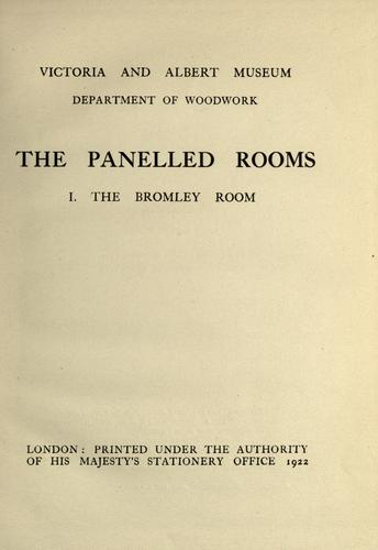 Download The panelled rooms.
