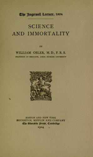 Science and immortality