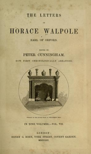 The Letters of Horace Walpole by Horace Walpole