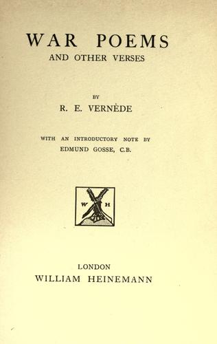 War poems and other verses