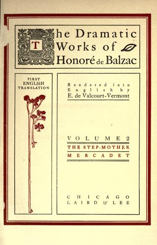Download The dramatic works of Honoré de Balzac
