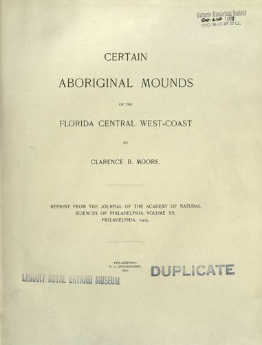 Download Certain antiquities of the Florida west-coast