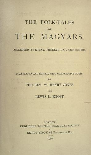 Download The folk-tales of the Magyars.