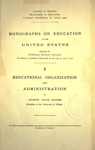 Monographs on education in the United States.