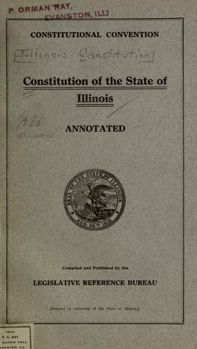 Constitution of the state of Illinois.