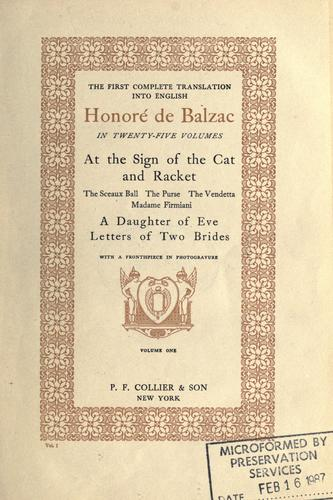 Honoré de Balzac in twenty-five volumes