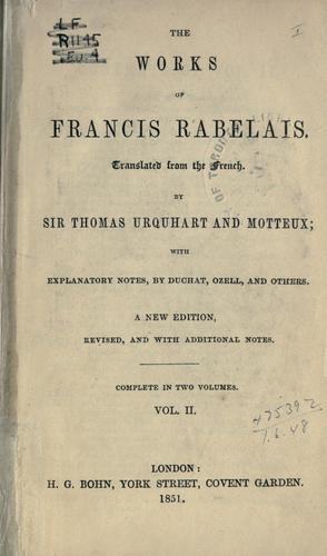 Download The works of Francis Rabelais.