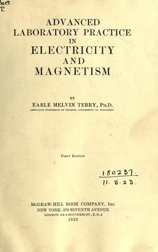 Download Advanced laboratory practice in electricity and magnetism.