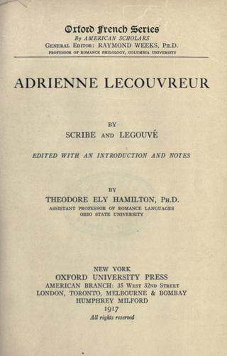 Download Adrienne Lecouvreur