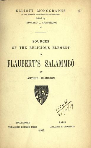 Sources of the religious element in Flaubert's Salammbô