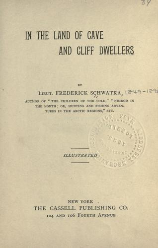 Download In the land of cave and cliff dwellers