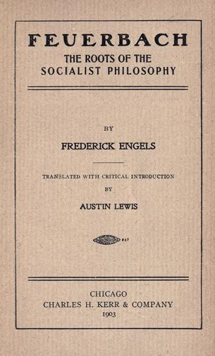 Download Feuerbach, the roots of the socialist philosophy