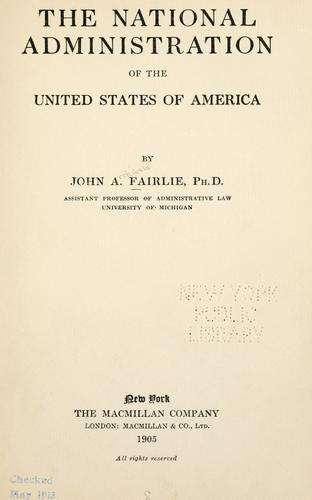 Download The national administration of the United States of America