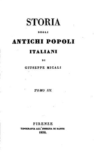 Download Storia degli antichi popoli italiani