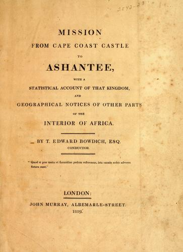 Mission from Cape Coast Castle to Ashantee