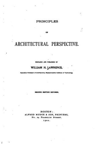 Principles of architectural perspective.