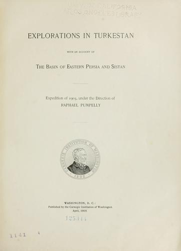 Explorations in Turkestan