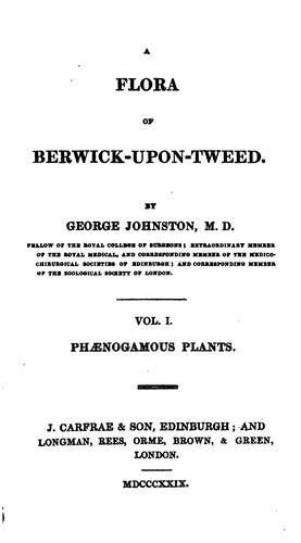 Download A Flora of Berwick-upon-Tweed.