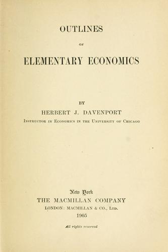 Download Outlines of elementary economics
