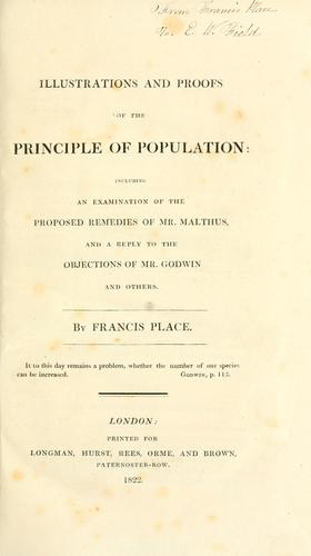 Illustrations and proofs of the principle of population