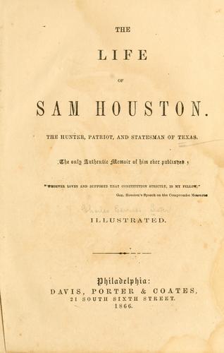 The Life of Sam Houston.